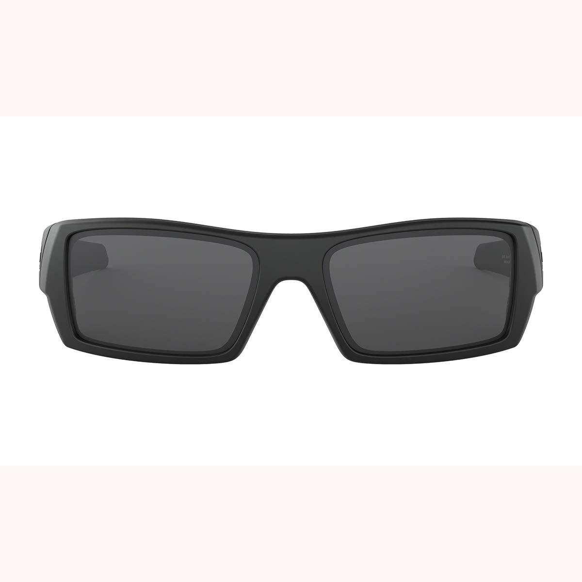 Oakley Men's OO9014 Gascan Rectangular Sunglasses, Matte Black/Grey, 60 mm by Oakley