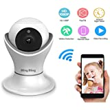 360° Home Wireless IP Camera 1080P HD Two Way Talk Indoor Security Surveillance Camera with Night Vision and Motion Detection for Baby Elder Pet Nanny Monitor