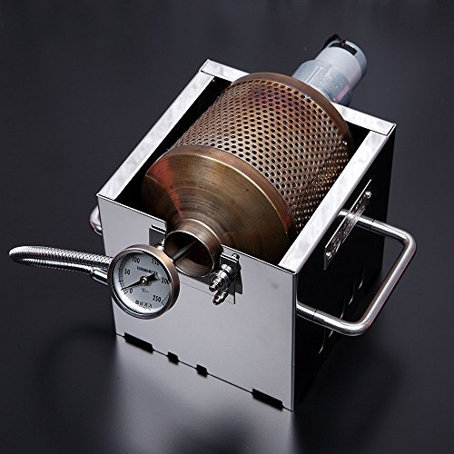 Burner Roaster - KALDI Mini Size (200~250g) Home Coffee Roaster Including Thermometer -Gas Burner Required (Motorize with Sampler & Hopper)