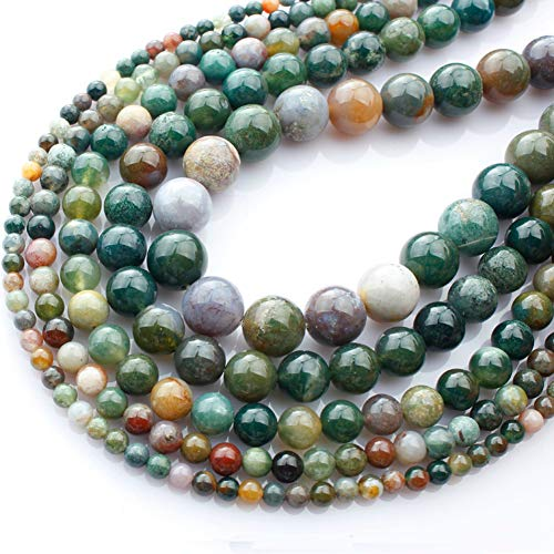 "Genuine Natural Stone Beads India Agate Round Loose Gemstone 8mm 1 Strand 15.5""45-47pcs DIY Charm Smooth Beads for Bracelet Necklace Earrings Jewelry Making Accessories Supplier ST16"