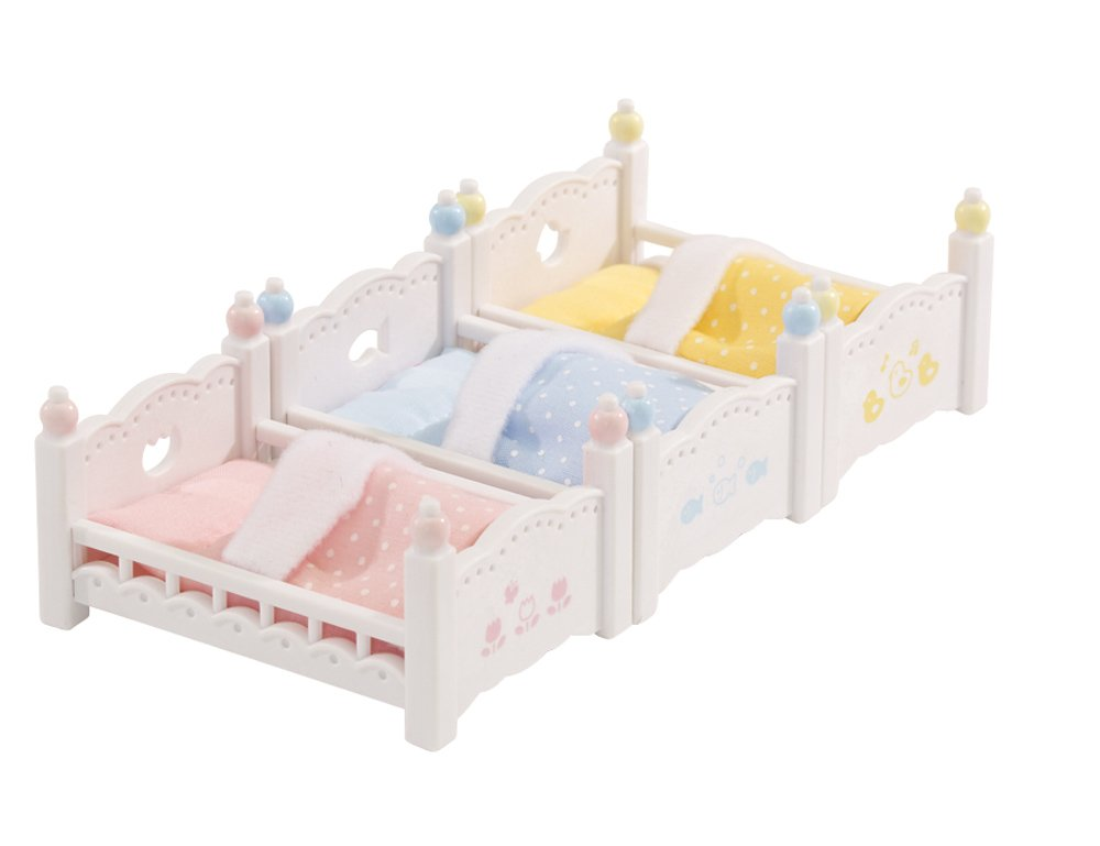 Calico Critters Triple Baby Bunk Beds Kids Girls Play Toy