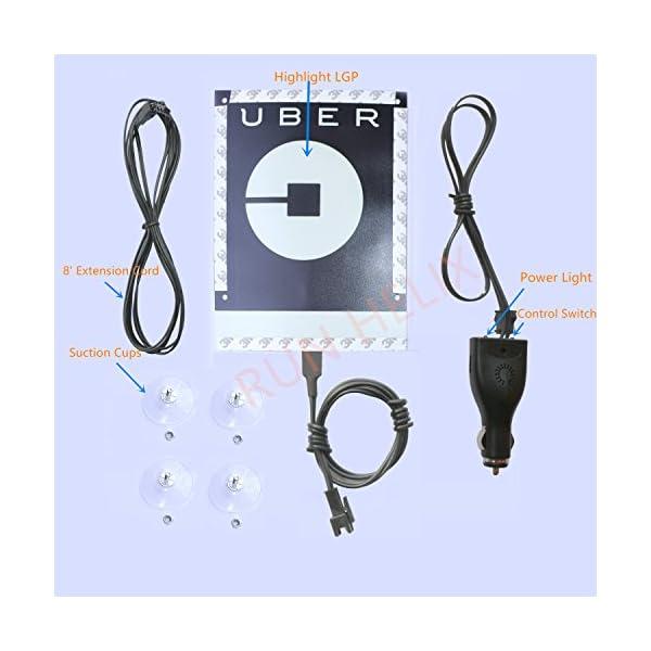 Uber Sign Light With NEW Uber Logo Uber EL Car Sticker Glow Light Sign Decal On Window With DC12V Inverter