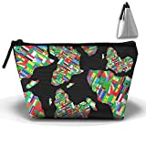 Africa Flag Colortone Unisex Cosmetic Bags Handbag Wrist Bags Clutch Bags Cell Phone Bags Purses