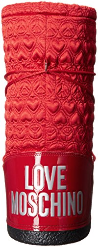 Moschino Snow Women's Boot Moonboot Peace Love Red Sv7qq