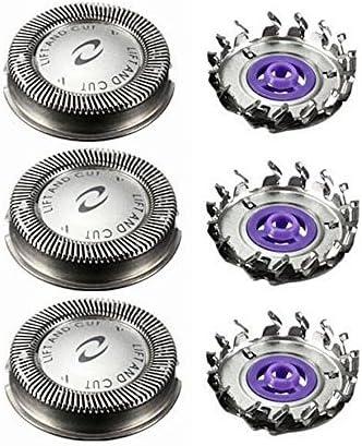 iXpro Hoja de Afeitar 3PCS / Lot de la espátula de Las Rejillas de la Cabeza de Afeitar del reemplazo de la Cabeza y Cortador electrónicos para Philips