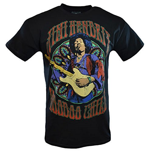 Purple Haze Jimi Hendrix Authentic Voodoo Child Concert T-Shirt - Rock - Music - Guitar - (X-Large) (T-shirt 100 Authentic Black)