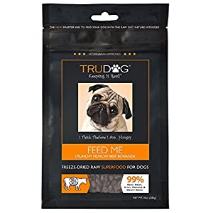 TruDog: Feed Me: Freeze Dried Raw Superfood - Real Meat Dog Food - Optimal Canine Health and Natural Longevity - All Natural - Balanced Nutrition - No Filters, No Grain - Just Add Water 3