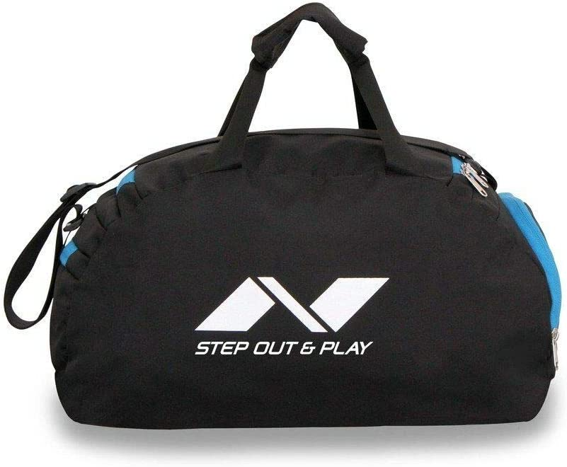 Gym//Sports Bag Nivia Sports 5194 JRBS Polyester Space Bag Black//Sky Blue