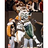 Steiner Sports NFL New York Jets Chris Baker Autographed 8x10 Jumping 1 Handed Catch Versus Cleveland
