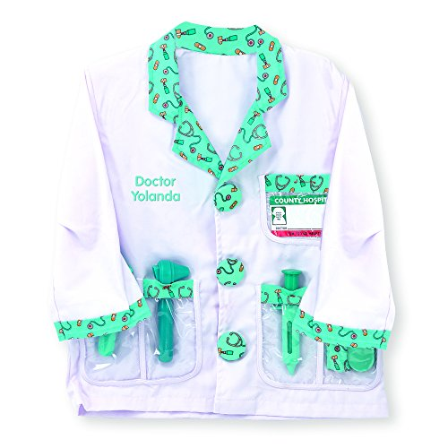 Melissa & Doug Personalized Doctor Role Play Costume Set