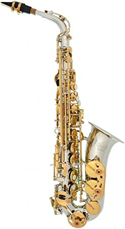 side facing lazarro 360-2c alto saxophone