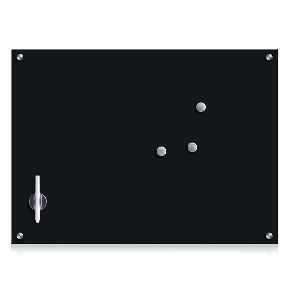 Zeller Glass Memo Board, Black by Zeller