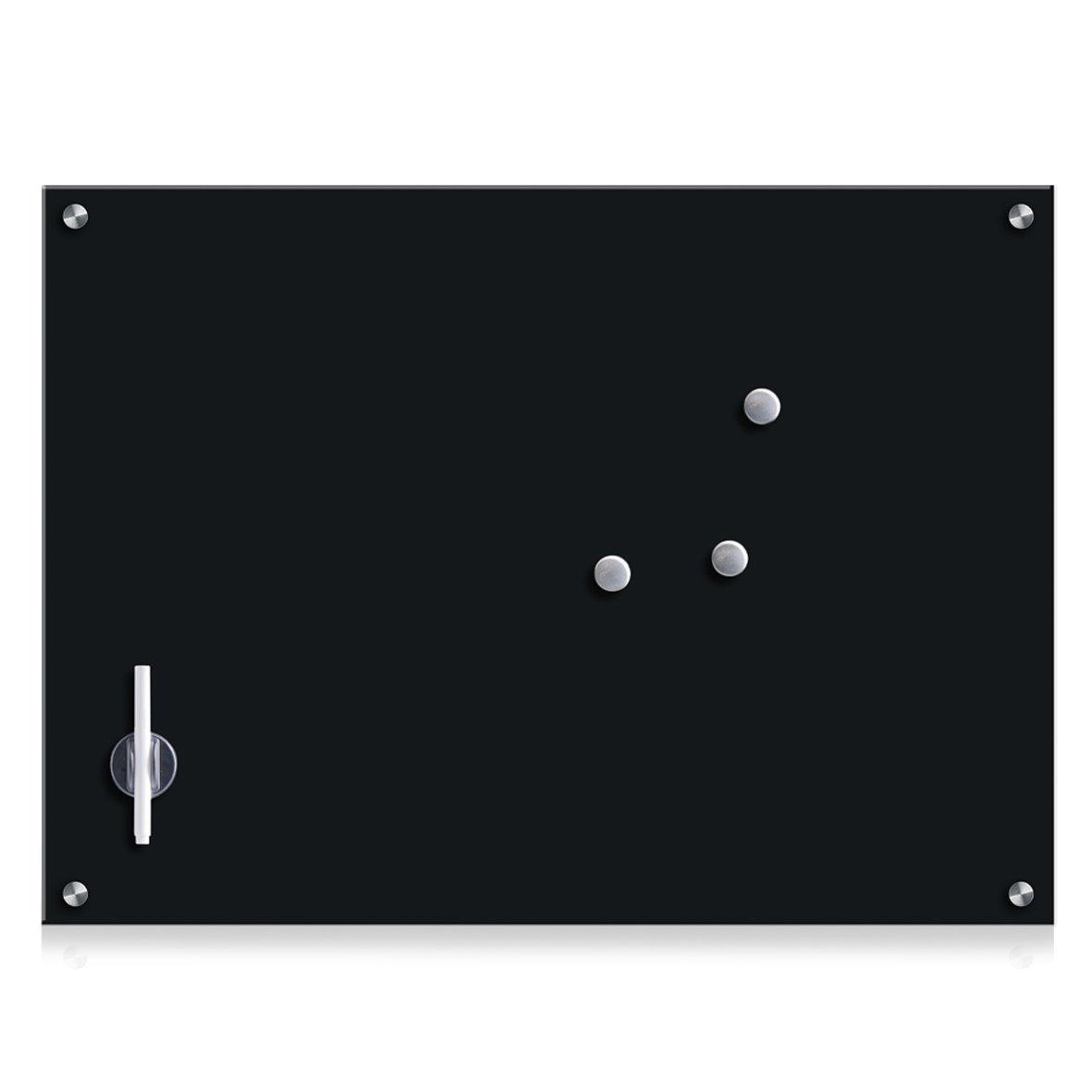 Zeller Glass Memo Board, Black