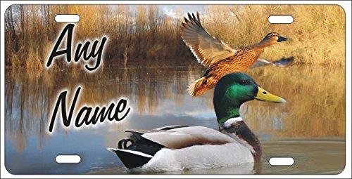 Mallard Duck Hunting - ATD Mallard Duck Hunting Personalized Novelty Front License Plate Vanity Decorative Custom Aluminum Car Tag