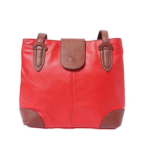 Bolso de hombro mediano 015 Rojo-marròn