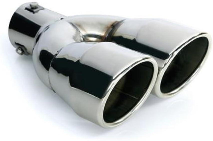 Cartuner Auspuff Blende Endrohr 2 X 90 Mm Rund Edelstahl In Sportauspuff Optik Absorber Doppelendrohr 36 60mm Auto