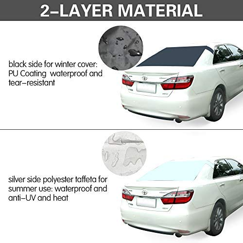 Back Windscreen Cover Protector Ice Removal Frost Guard 55 35 Universal Fit for Most Cars 55 35 Universal Fit for Most Cars 8270 AOIT Magnetic Rear Windshield Snow Ice Cover