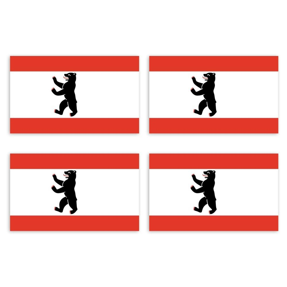 Bundesland Autoaufkleber Deutschland Flagge L/änder Wappen Fahne Sticker Kennzeichen KIWISTAR Aufkleber 4,5 x 2,3 cm Berlin