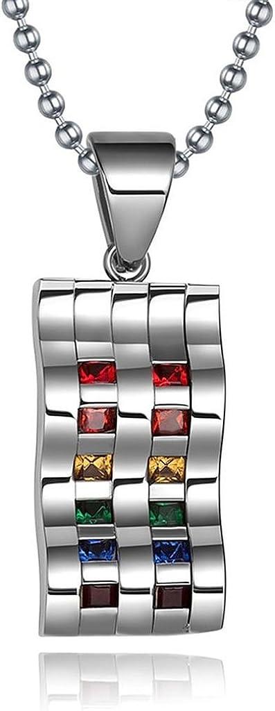 Epinki Women Stainless Steel Pendant Necklace Men Gay Lesbian LGBT Pendant Necklace Silver Necklace