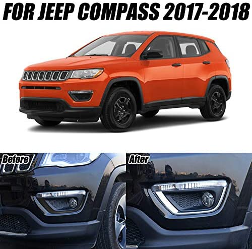 For Jeep Compass 2017 2018 Seconde Generation  Front Fog Light Lamp Eyelid Cover