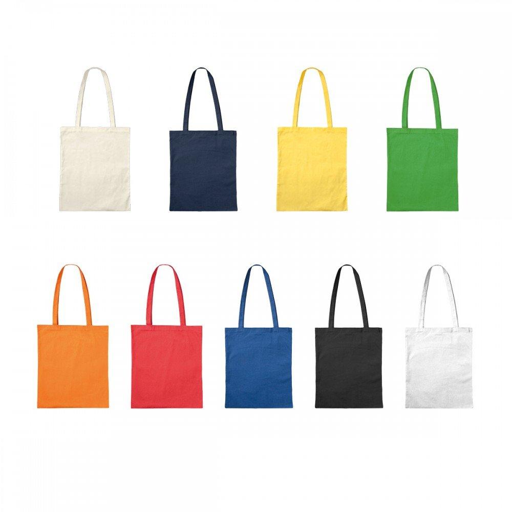 Premium Baumwolltasche Umhängetasche Stoffbeutel Beutel Shopper mit langen Henkel - viele Farbe, Farbe Einkaufstasche:gelb crazzy-shirt