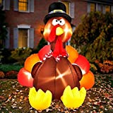 Gemmy Airblown Inflatable Original Turkey - Indoor Outdoor Holiday Decoration, 6-foot Tall