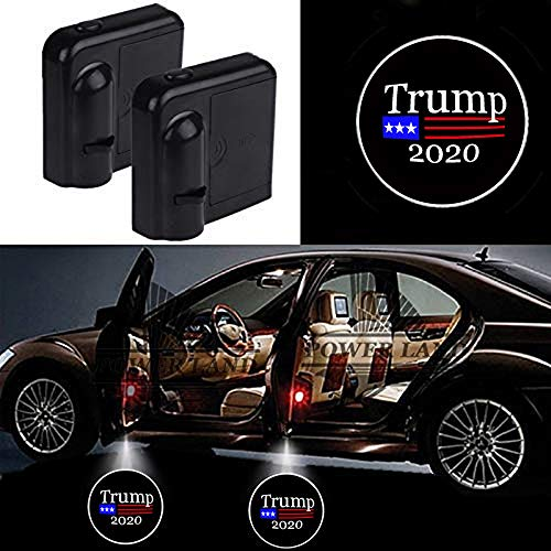 For Donald Trump 2020 Keep America Great Car Door Led Welcome Laser Projector Car Door Courtesy Light Suitable Fit for all brands of cars (Donald Trump 2020)