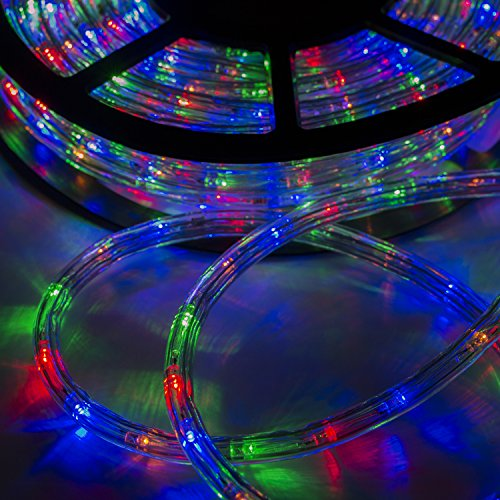 Rope Lights For Boats: Walcut USLI1002CW Flexible 100' Crystal Clear PVC Tubing