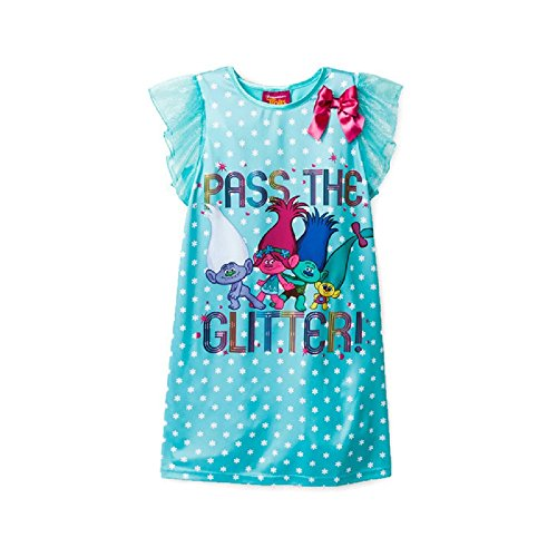 Trolls Pass The Glitter Nightgown Size M - 7/8