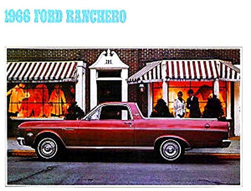 (BEAUTIFUL 1966 FORD RANCHERO FULL COLOR DEALERHIP SALES BROCHURE - Includes All Ranchero's - ADVERTISMENT - LITERATURE 66)