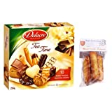 french assorted tea time 250 gr-assortiment tea time DELACRE + 1 bag of madeleines Théodore Bardin-Cuinet