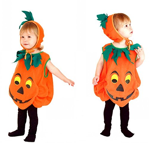 Children's Halloween Costume Sets, Deluxe Halloween Cosplay Costume for Girls, Princess Costume for Toddler, Fancy Dress for Costume Ball (XL Size, Horrible Pumpkin) (Horrible Toddler Halloween Costumes)