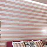 QIHANG European Modern Minimalist Country Luxury Stripe Wallpaper Roll for Living Room Bedroom Tv Backdrop Pink Color