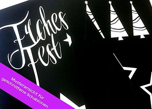 Schablone Elch und Hirsch Motivschablone wiederverwendbare Motivschablone siehe Musterfotos Airbrusschablone