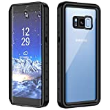 SNOWFOX Galaxy S8 Waterproof Case, Full Body Sealed Protection with Built-in Screen Protector IP68 Certified for Galaxy S8 (Black)