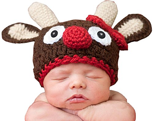 Baby Girl Boy Handmade Crochet Knit Photography Brown Fawn Hat (Fawn Fairy Costume)