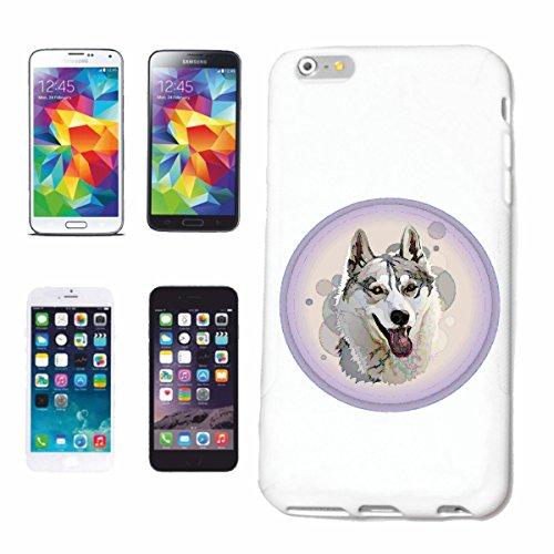"""cas de téléphone iPhone 6+ Plus """"ELEVAGE HUSKY VINTAGE DOG HOUSE CHIENS KENNEL ÉLEVEURS PUPPY FORMATION CARE"""" Hard Case Cover Téléphone Covers Smart Cover pour Apple iPhone en blanc"""