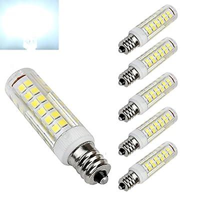 E12 LED Bulb 5 Watt Daylight 6000K Candelabra Base Chandelier Light Bulb AC110-130V 76X2835SMD LEDs(Pack of 5)