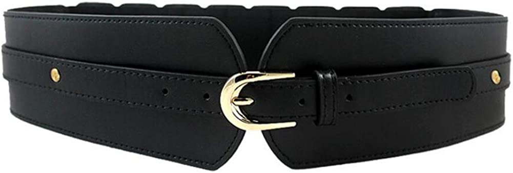 Oyccen Cintura Elastica Larga da Donna Cinture Cinch Regolabile Signora Corsetto in Pelle PU