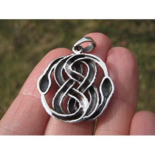 b9c573072bda 925 plata serpiente colgante collar Tailandia joyas Art A30 Buena ...