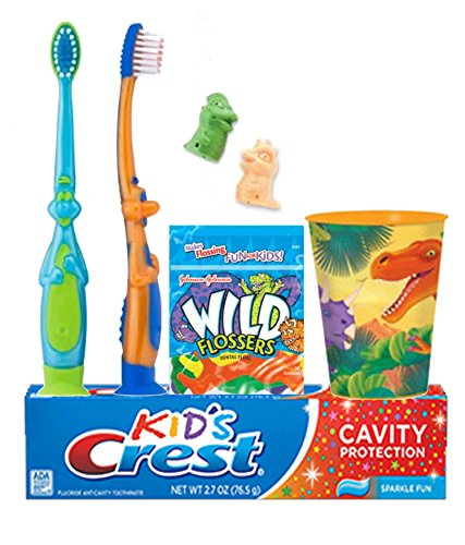 Dinosaurs Inspired 7pc. Bright Smile Oral Hygiene Set! To...