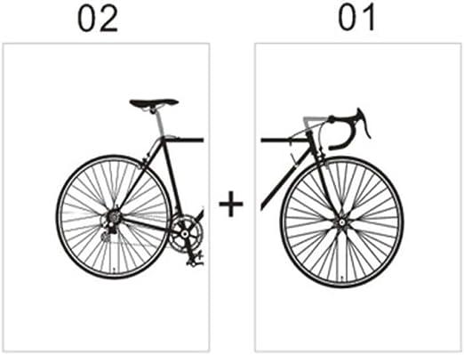 CYACC Blanco y Negro Moda Bicicleta Pintura Lienzo Carteles Sala ...