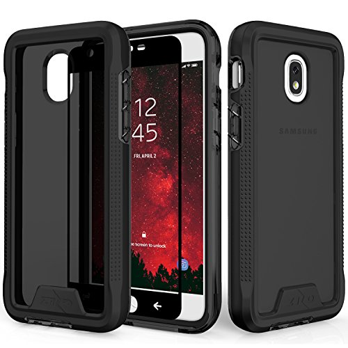 Zizo Ion Series Compatible with Samsung Galaxy J7 2018 Case Military Grade Drop Tested with Tempered Glass Screen Protector J7 Refine J7 Star Black