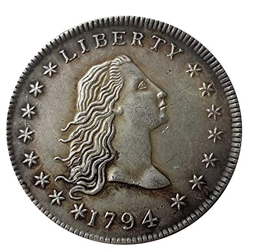 - Rare Antique United States 1794 Flowing Hair Liberty Silver Color Dollar