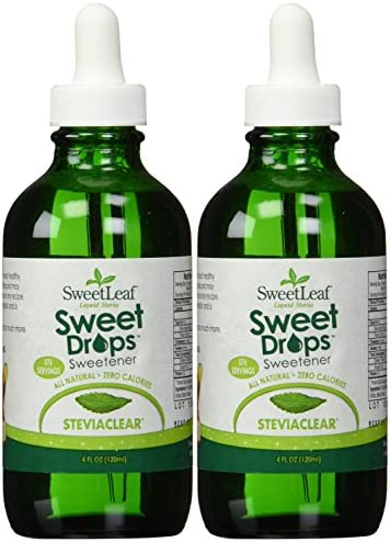 Sweetleaf Stevia Stevia Clear Liquid 4-ounce 2-Pack