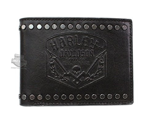 Harley Davidson Journey Debossed Leather Bifold