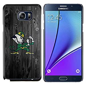 LECELL--Funda protectora / Cubierta / Piel For Samsung Galaxy Note 5 5th N9200 -- Notre Dame Fighting Equipo --