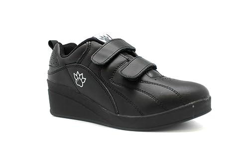 Zapatillas deporte con cuña velcro Kelme en negro talla 35