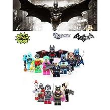 ABG toys 12 Minifigures DC COMICS Batman (TV classics version), Robin (TV classics version), Batman Pirate, The Joker (TV classics version), Katana, Two-Face, Deadshot, Batgirl, Catwoman (TV classics version), The penguin, Mister Freeze, Batman Beyond Building Blocks Sets Toy