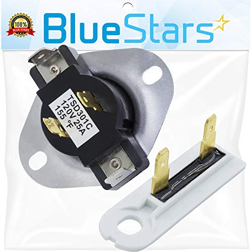 3387134 & 3392519 - Cycling Thermostat & Thermal Fuse Replacement Part by Blue Stars - Exact fit for Whirlpool & Kenmore Dryers